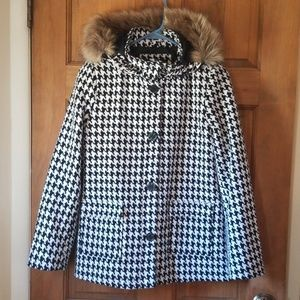 Holiday Editions Girl's houndstooth dress coat